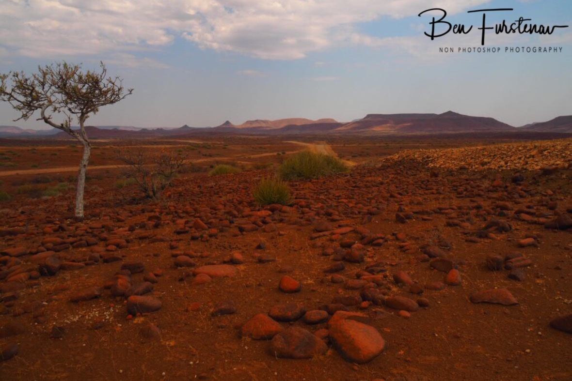Smaller boulders cover the landscape, Groote Berge, Kaokoveld, Namibia
