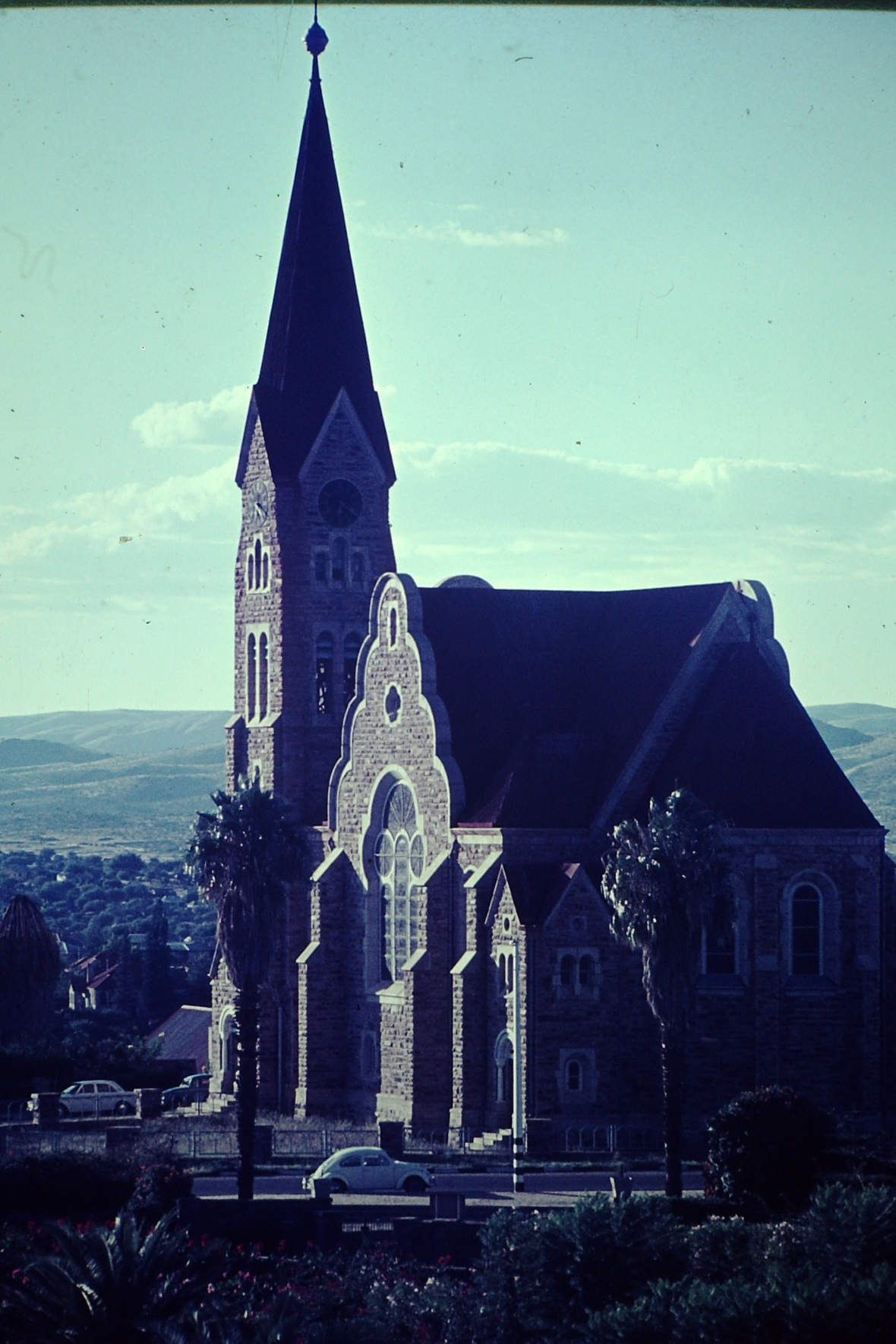 Christuskirche in the 70'ies, Windhoek, Namibia