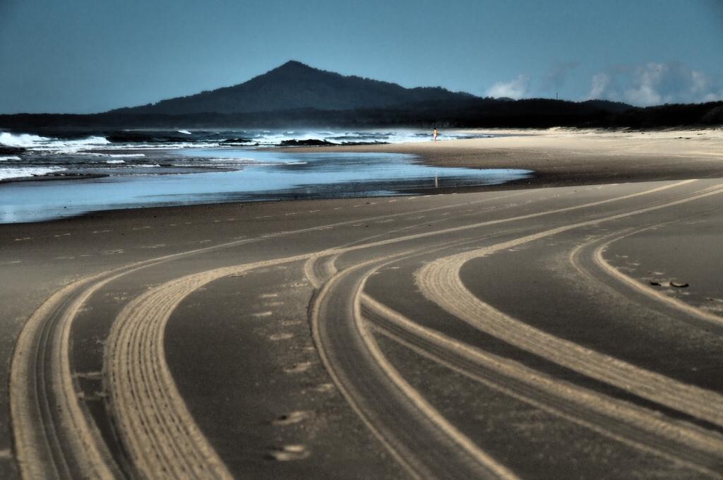 Endless beaches along Australia's coastline, Mid North Coast, NSW, Australia