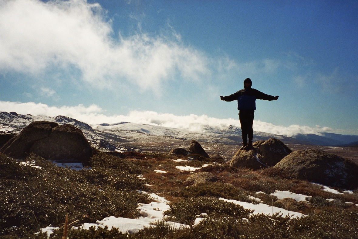 On my way to the top of Mount Kosciuszko, New South Wales, Australia