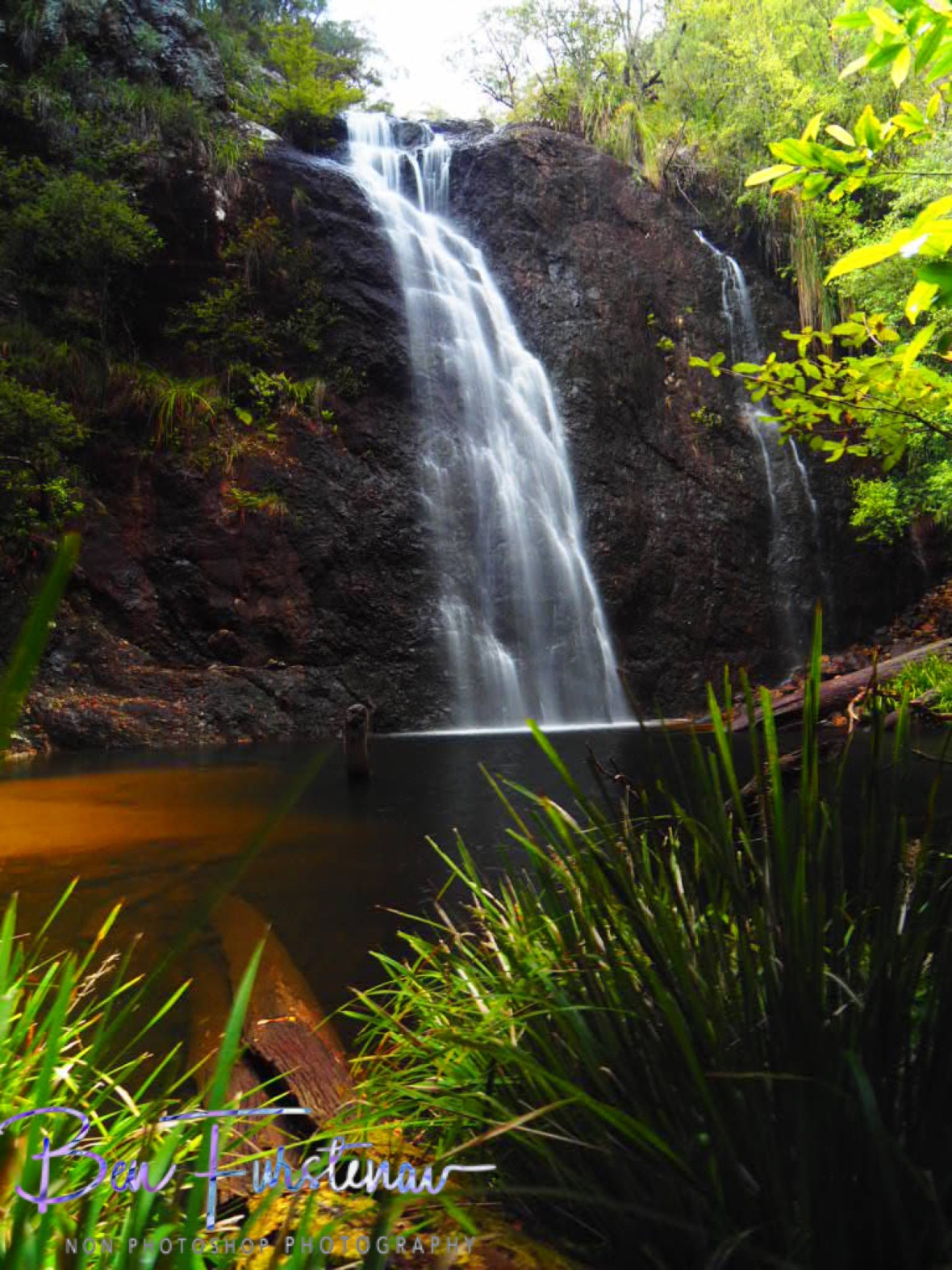 Boundry Falls creating a nice swimming pool, Washpool National Park, NSW, Australia