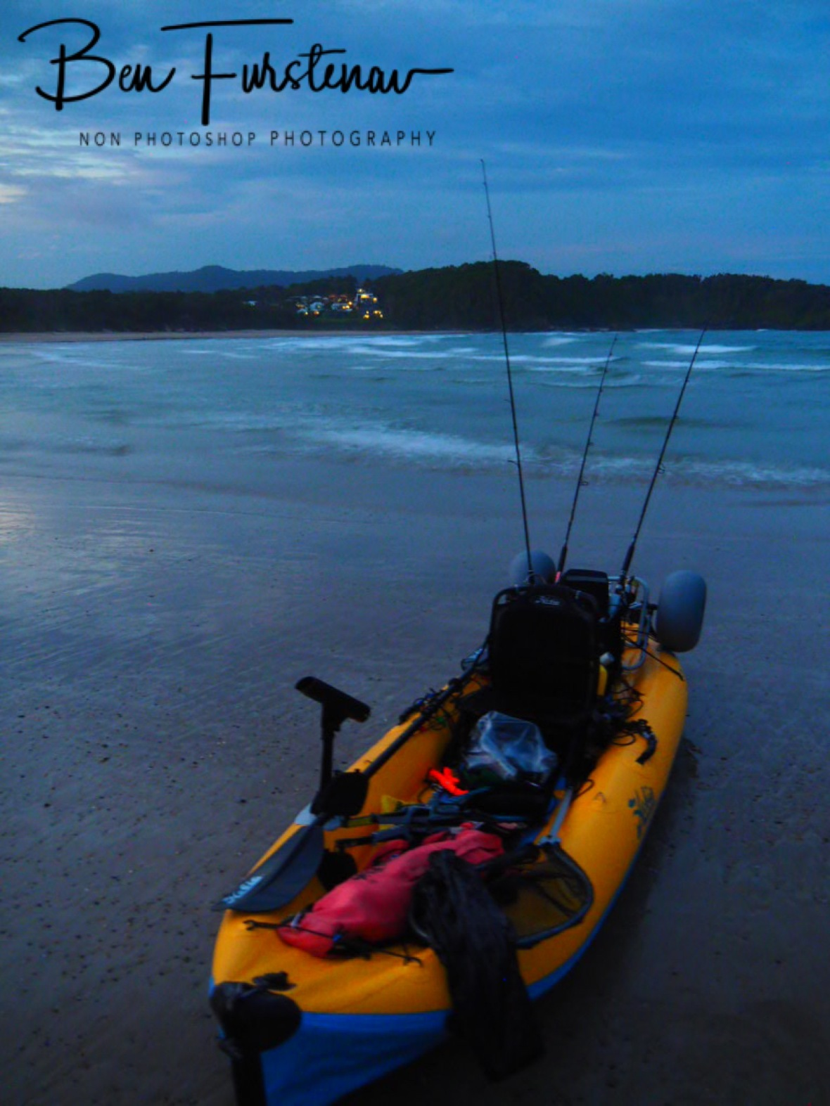 I made it back to Diggers Beach just in time before darkness, New South Wales, Australia