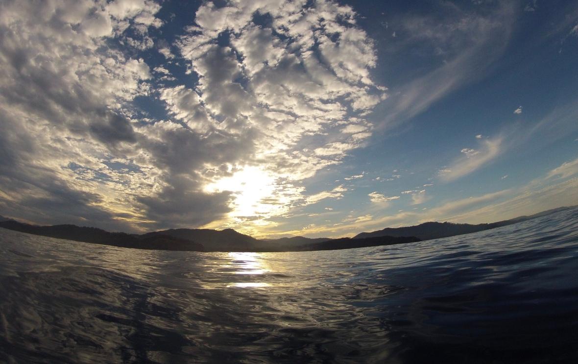 Sunset over the Coffs coastline, New South Wales, Australia