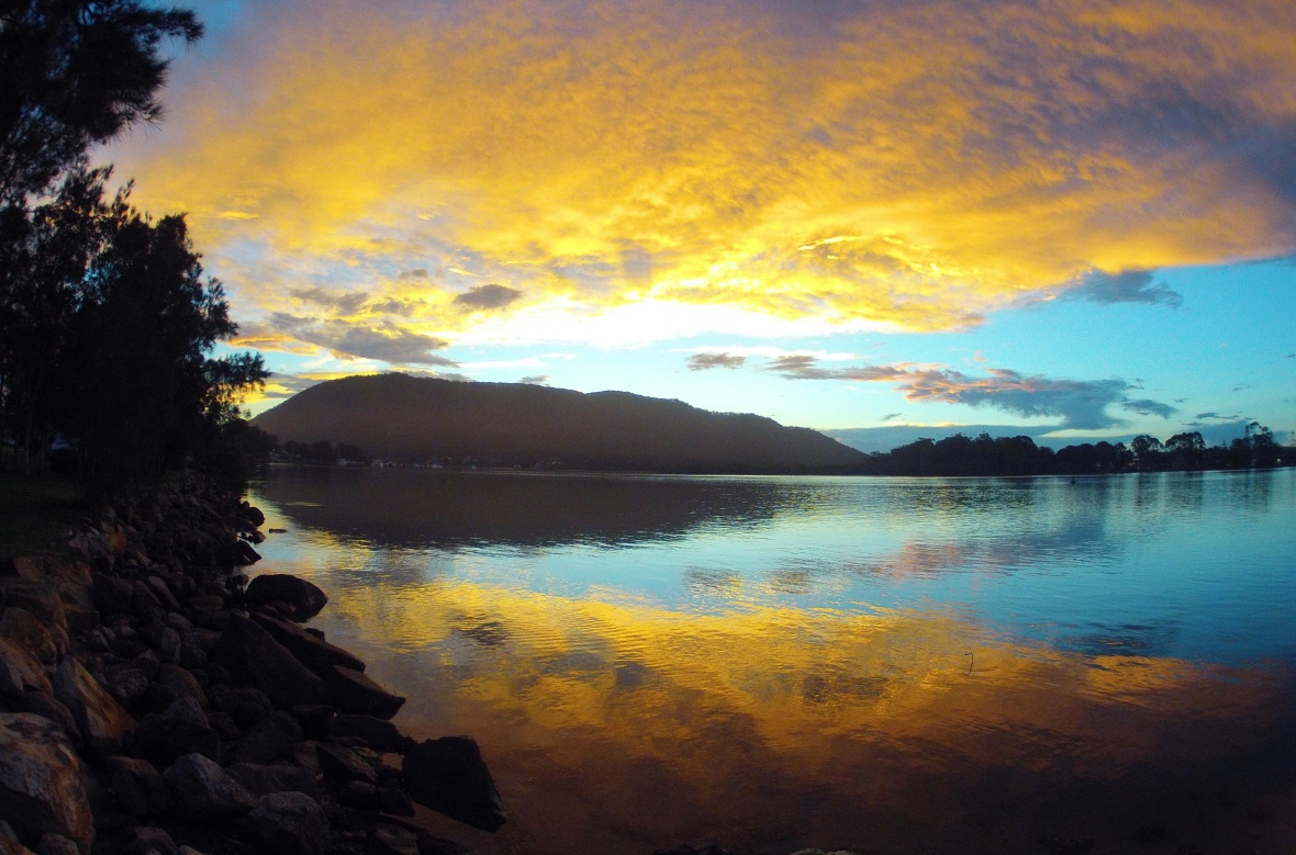 Stunning sunset at Lauriton, New South Wales, Australia
