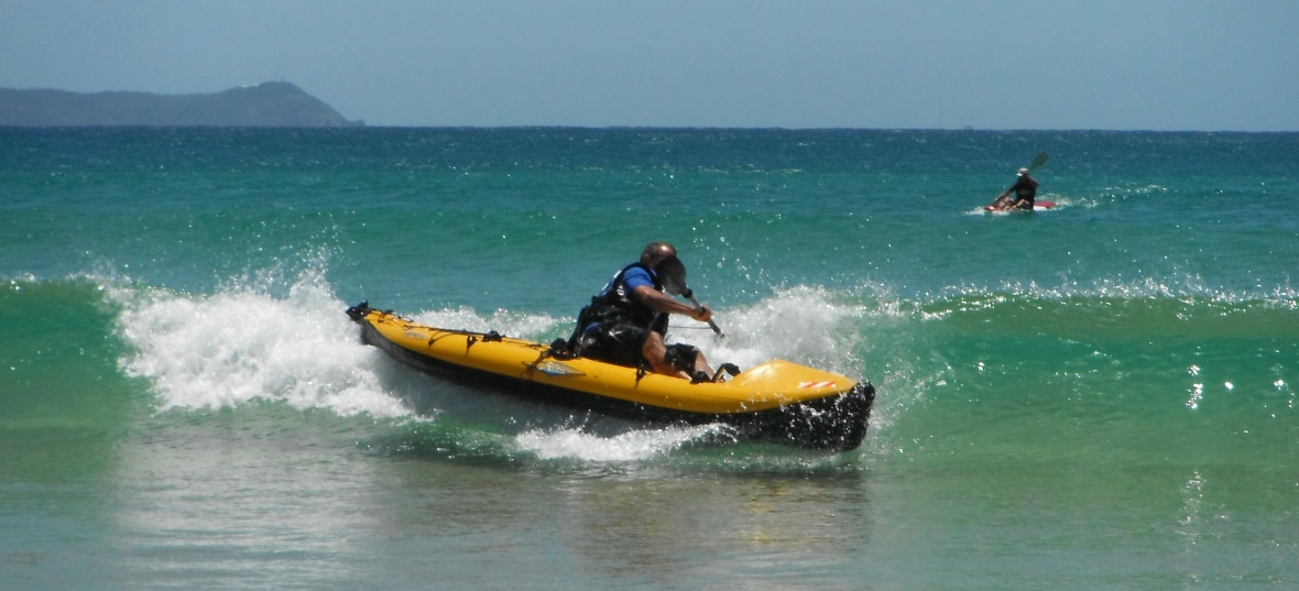 Practice and fun in the surf at Hat Head, New South Wales, Australia