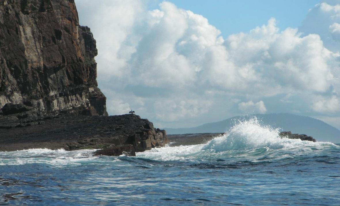Dramatic coastline on a calm day at Crowdy Head, New South Wales, Australia