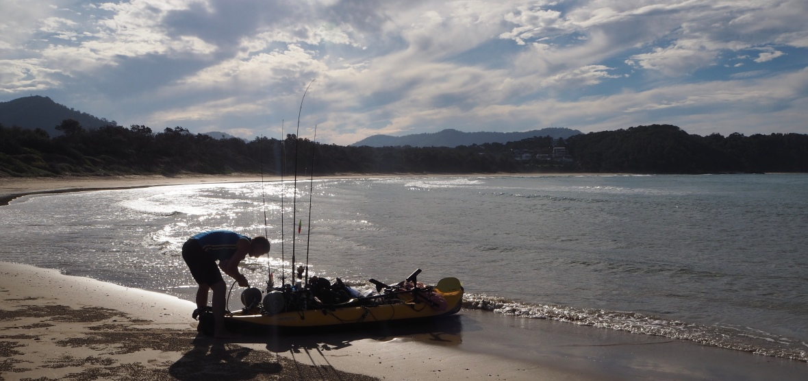 Just about ready to go out from Diggers Beach, New South Wales, Australia