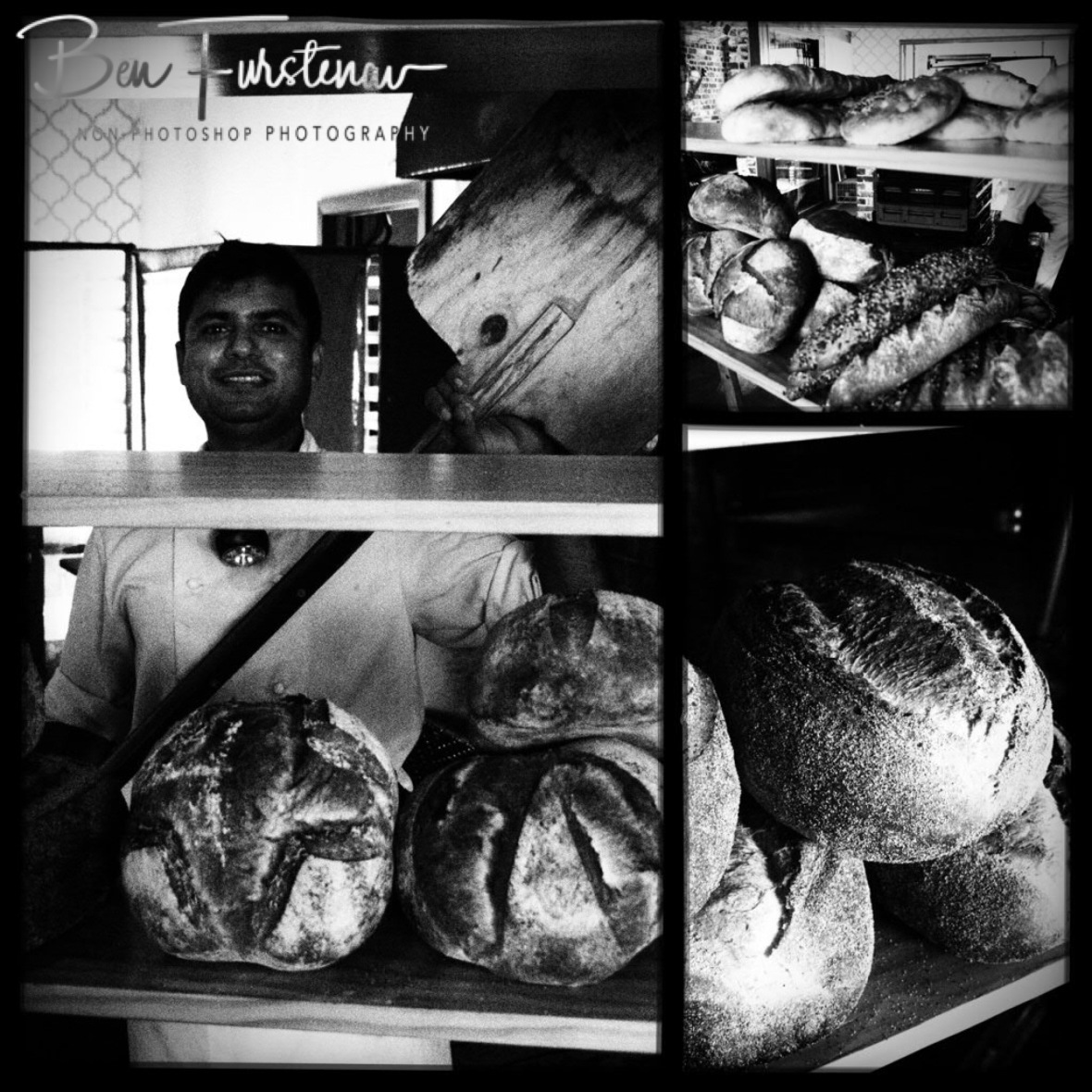 Shailesh with his magic tool to create a fine selection of sourdough bread, Newrybar, New South Wales, Australia