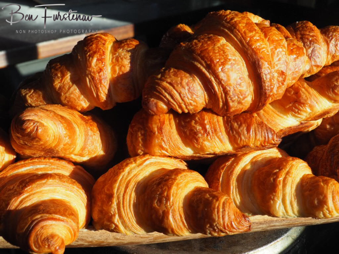 Fresh golden brown croissants, Newrybar, New South Wales, Australia
