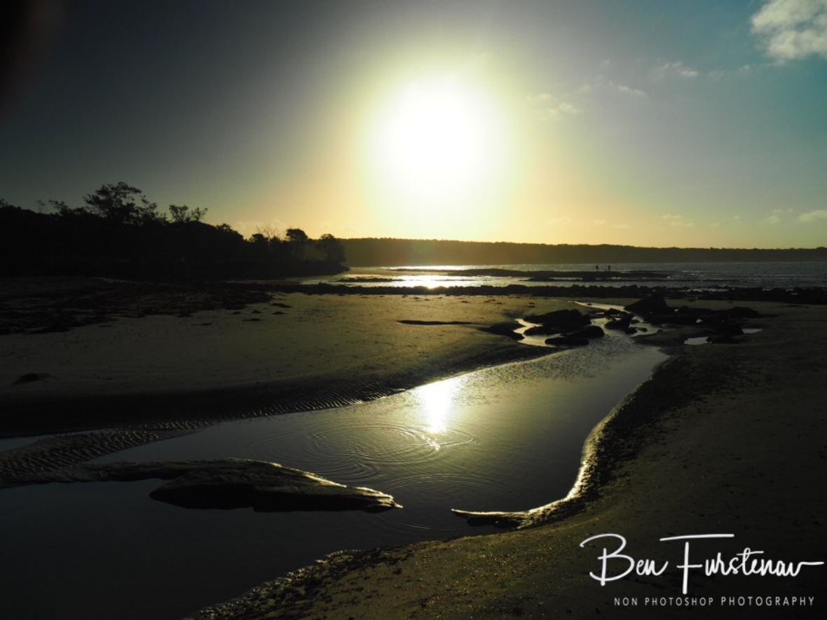 Sunset image at low tide at Woody Head, New South Wales, Australia