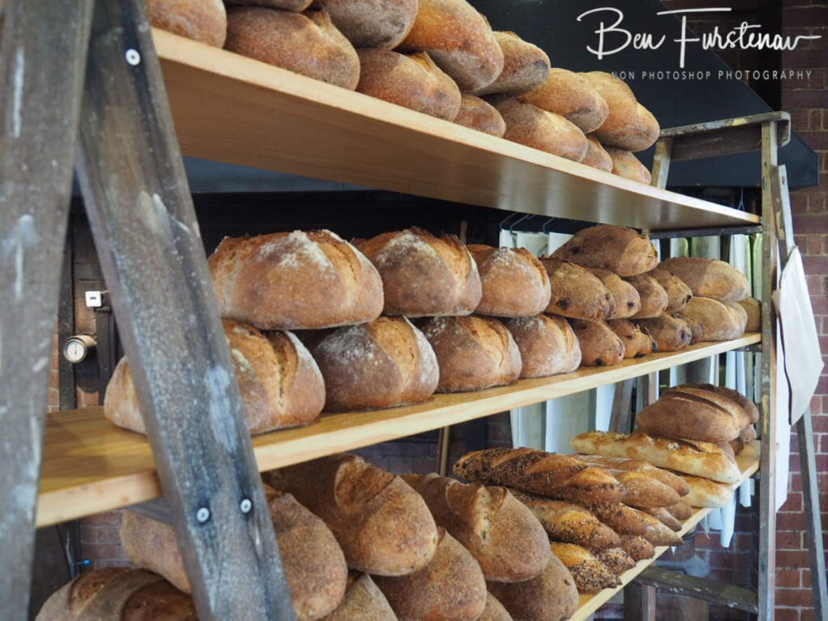 Rustic sourdough  bread display, Newrybar, New South Wales, Australia