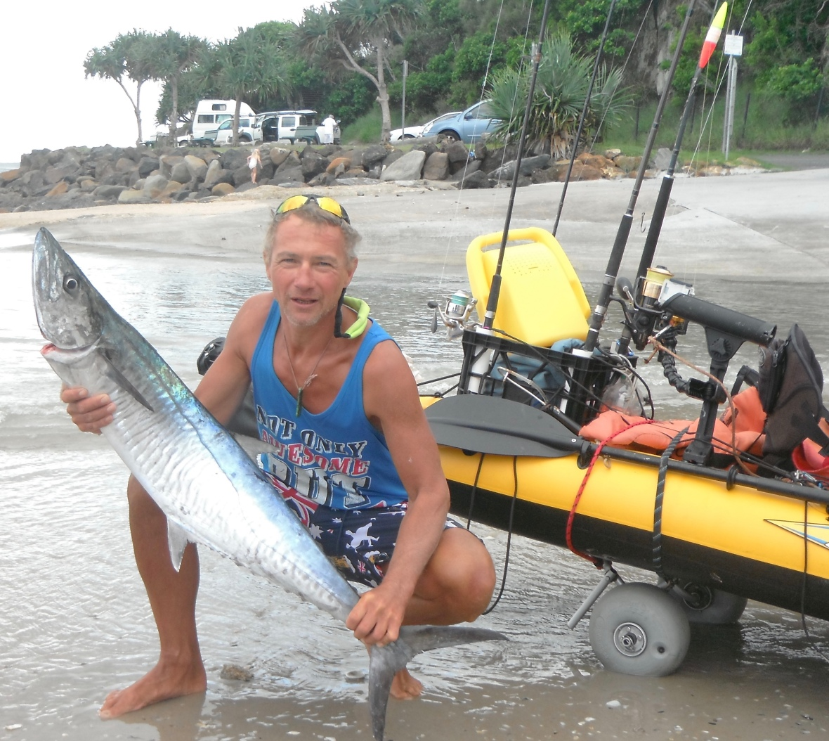 A large Spanish Mackerel, gotta be happy with that at Scott's Head, New South Wales, Australia
