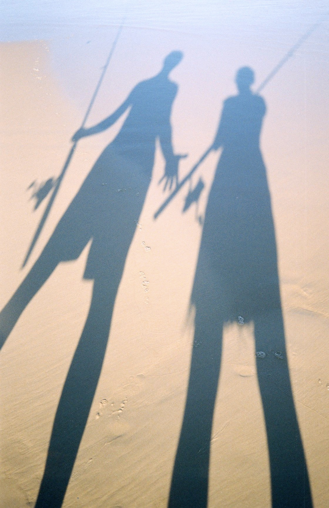 Fishing puppets on Fraser Island, Queensland, Australia