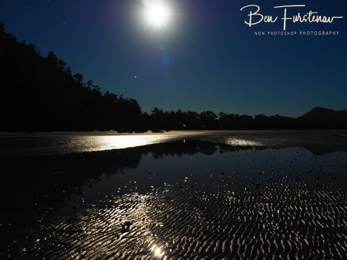 Full moon tidal reflections at Cape Hillsborough, Queensland, Australia