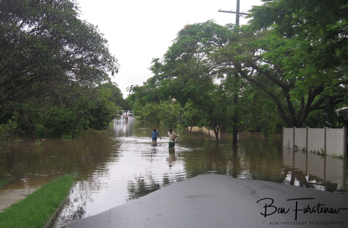 South Bank in Brisbane inundated, Queensland, Australia