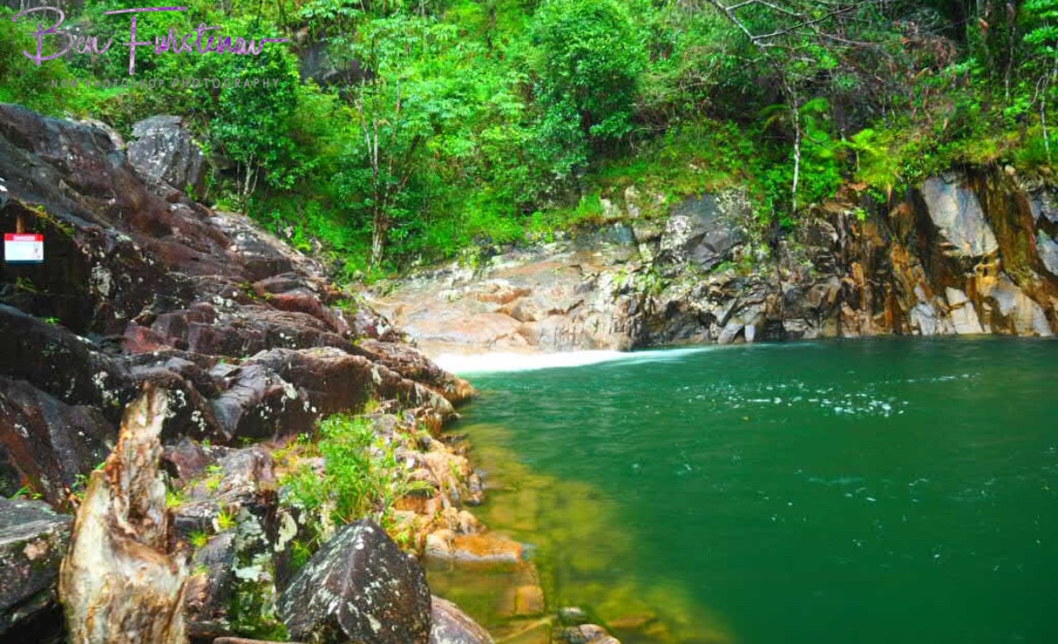 The wheel without fire at Finch Hatton Gorge, Eungalla National Park, Queensland, Australia