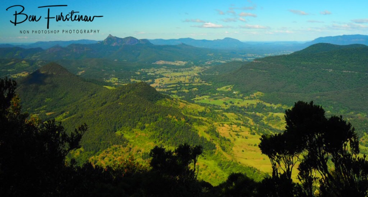 Endless view South towards Mount Warning at Lamington National Park, Queensland, Australia