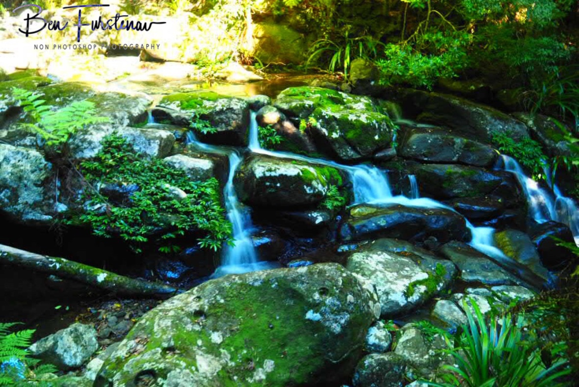 Cascading along boulders at Lamington National Park, Queensland, Australia