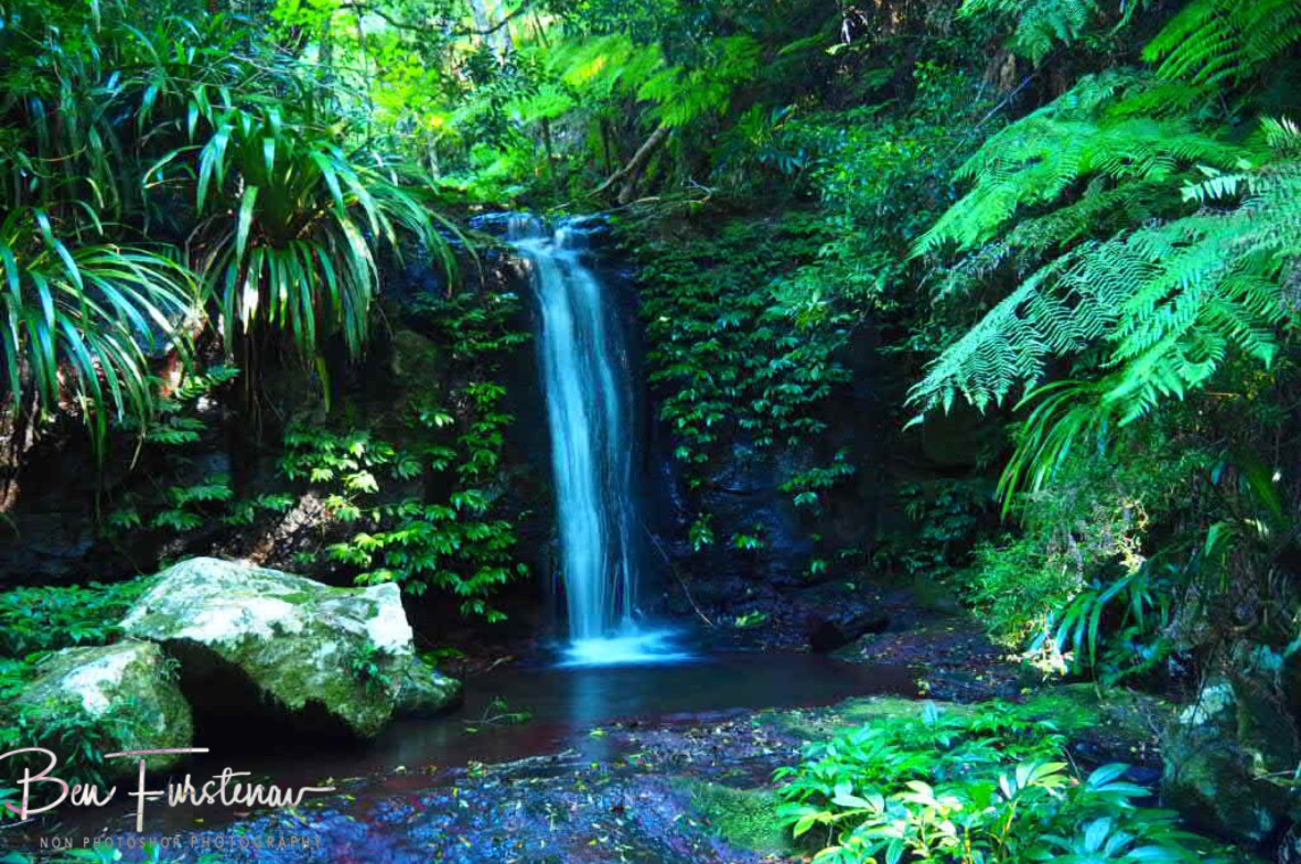 Slim shady waterfalls at Lamington National Park, Queensland, Australia
