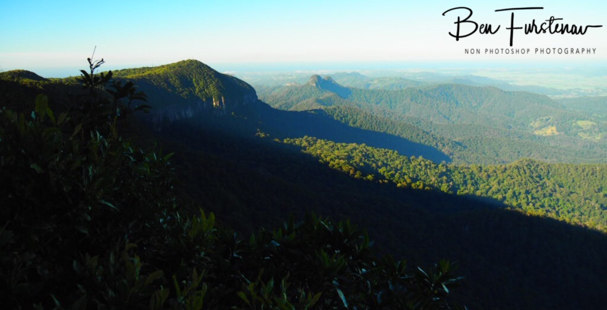 Clear view towards the coastline from Springbrook National Park, Queensland, Australia