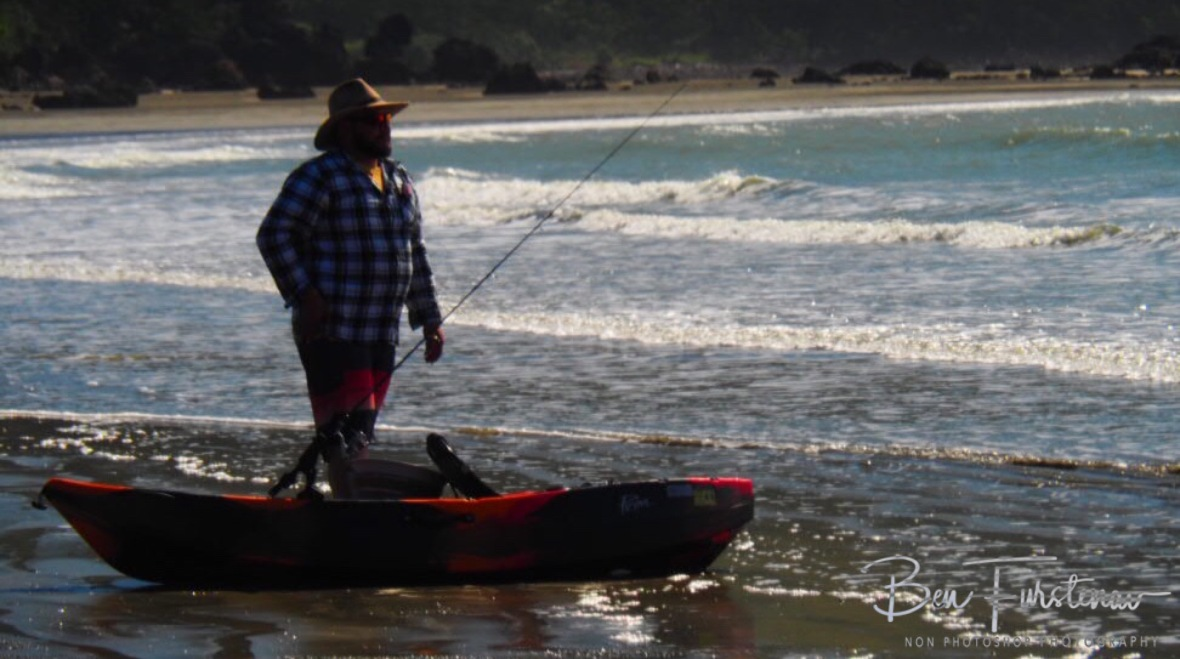 Kayak fishing at Cape Hillsborough, Queensland, Australia