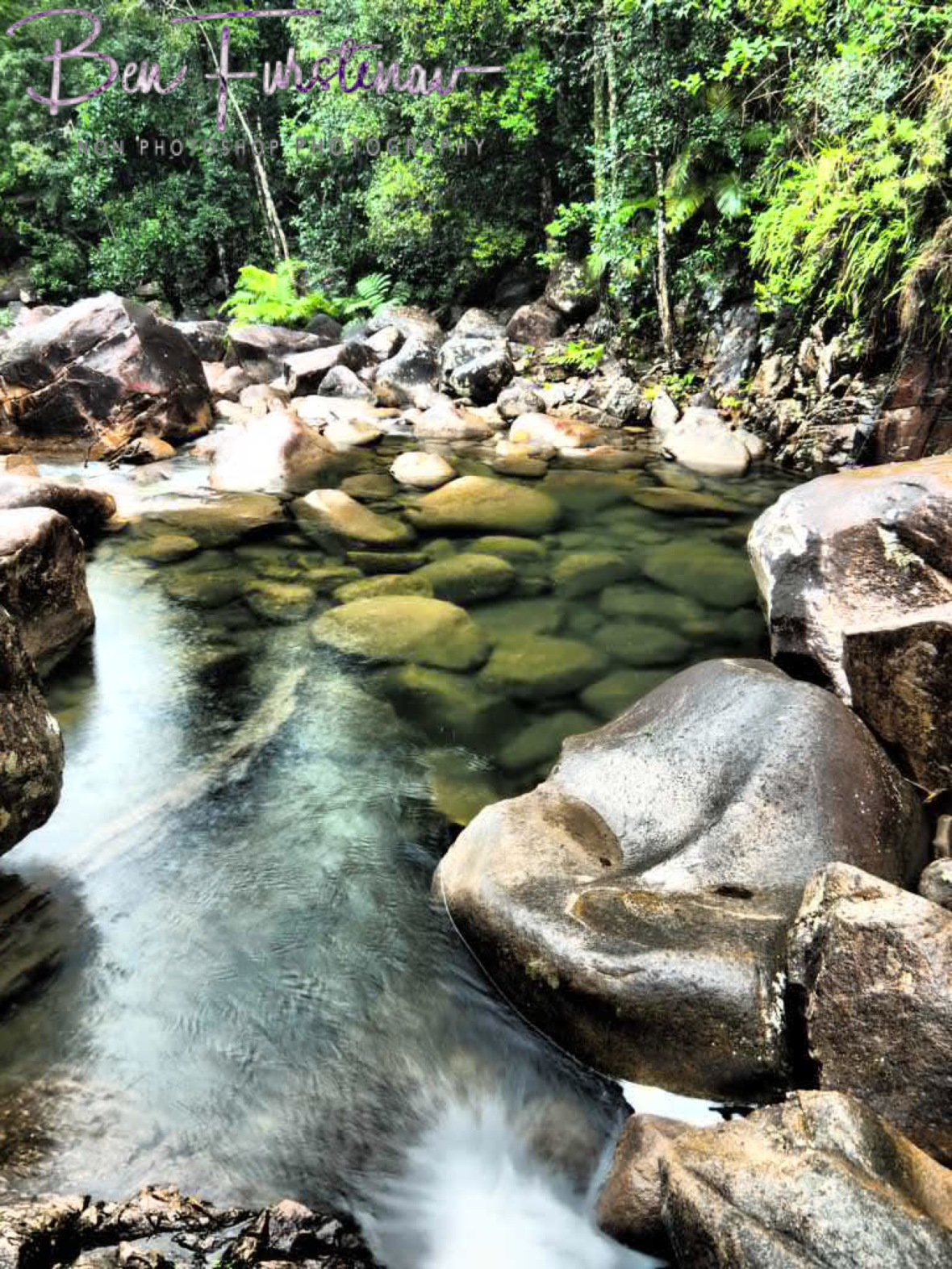 Pool overflow at Finch Hatton Gorge, Eungalla National Park, Queensland, Australia