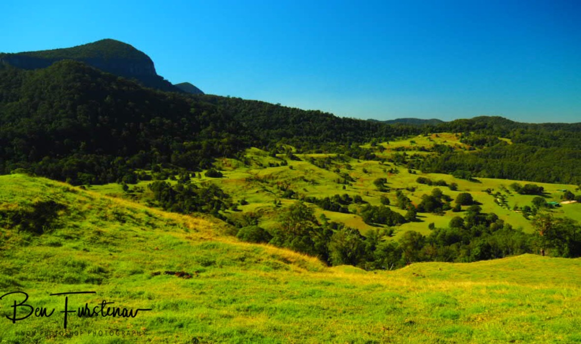 Green pastures along the Sceni Rim, Queensland, Australia