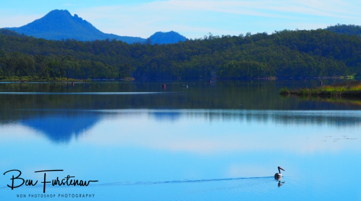 Pelican sailboat at Lake Wyralong, Queensland, Australia