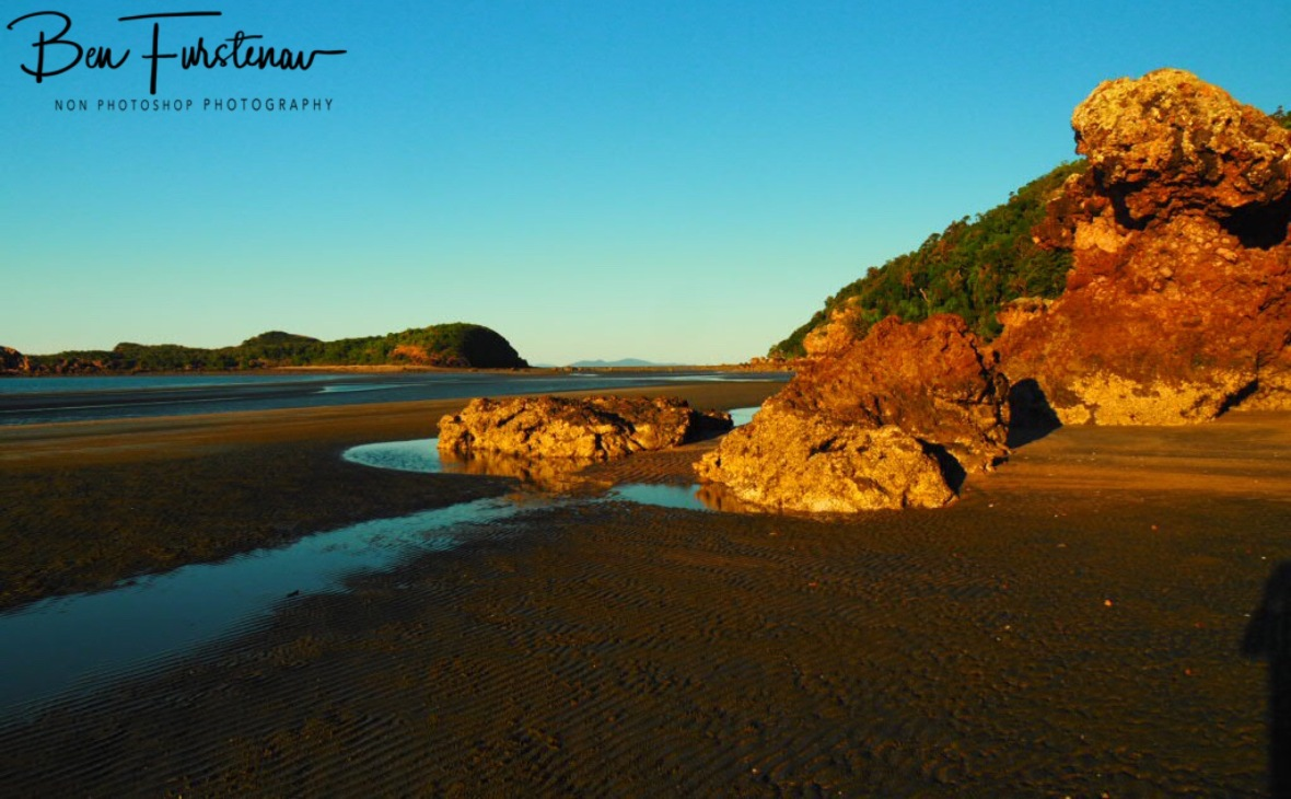 Rock formations and Wedge Island at Cape Hillsborough, Queensland, Australia