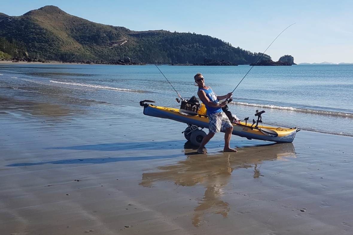 Dry practice at Cape Hillsborough, Queensland, Australia