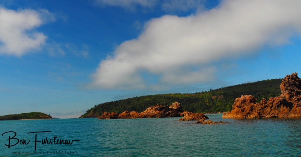 Southern Headland and Wedge Island at Cape Hillsborough, Queensland, Australia