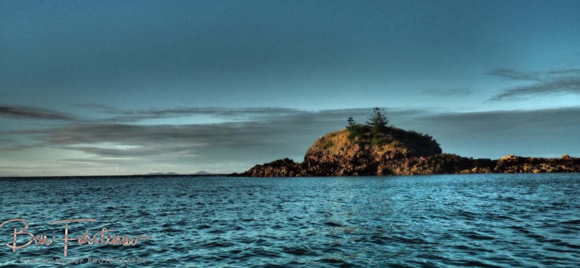 Later afternoon paddle with moon rising over Cape Hillsborough, Queensland, Australia