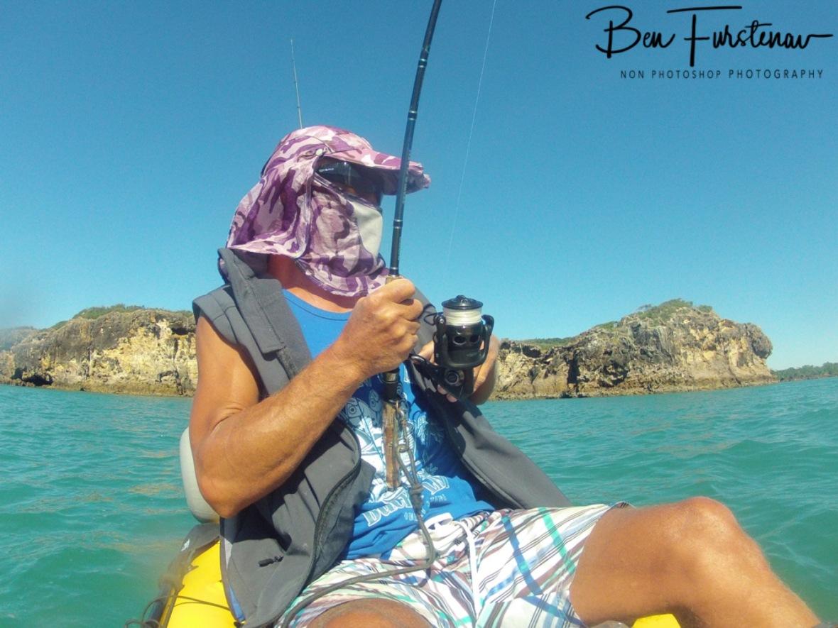Like all tuna, they fight till the end, Cape Hillsborough, Queensland, Australia
