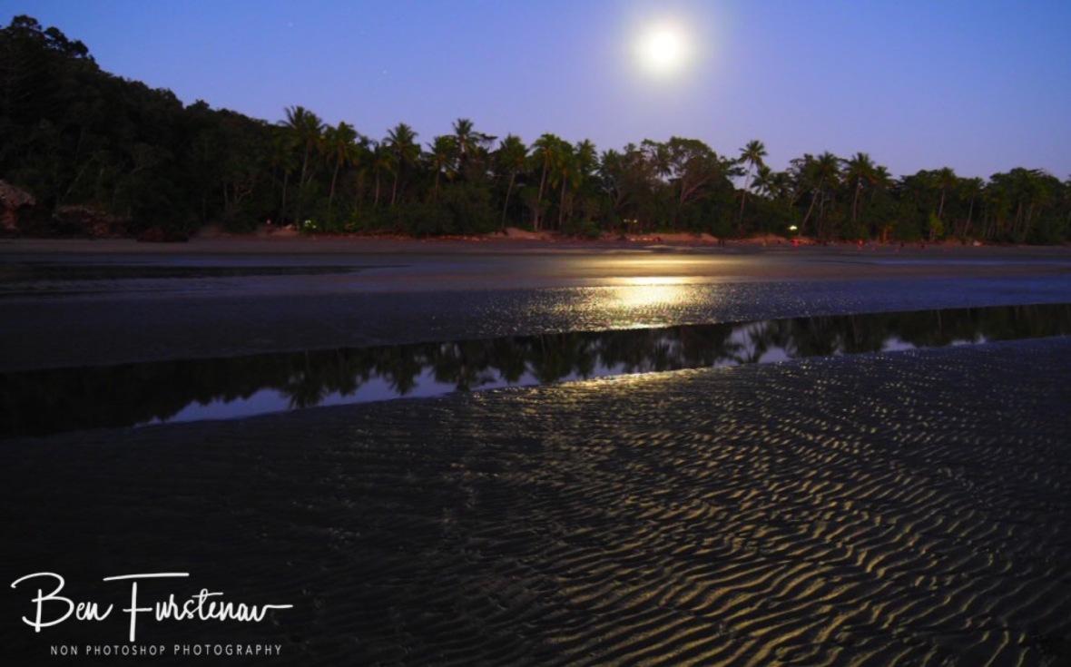 Full moon lighting up Cape Hillsborough, Queensland, Australia