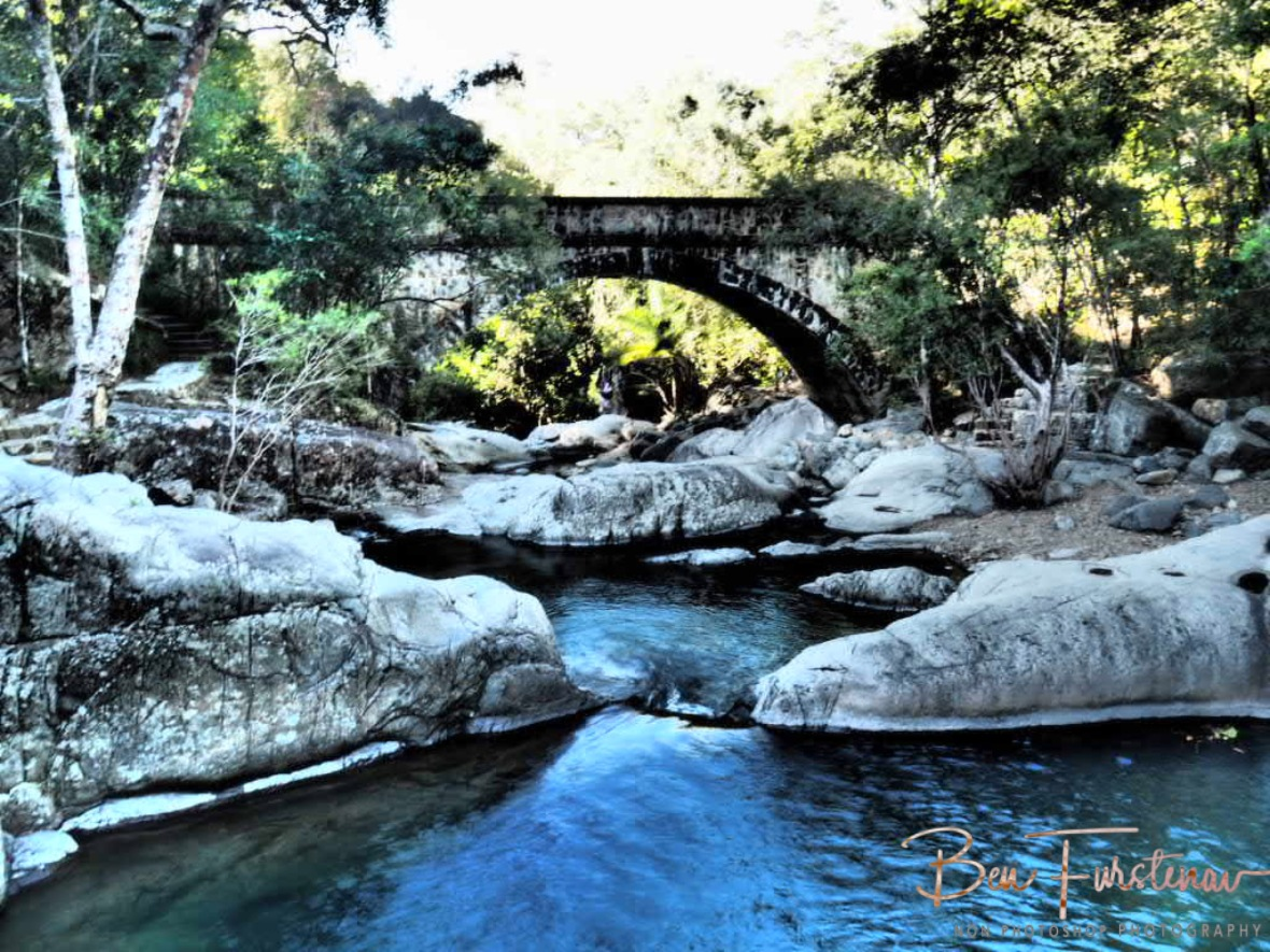Bridge over troubled waters at Little Crystal Creek, Northern Queensland, Australia