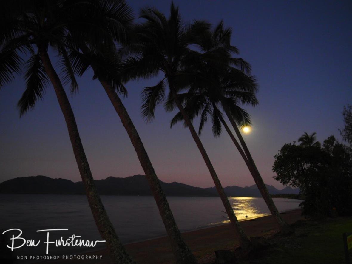 Moonrise over Hinchinbrook Island at Cardwell, Queensland, Australia