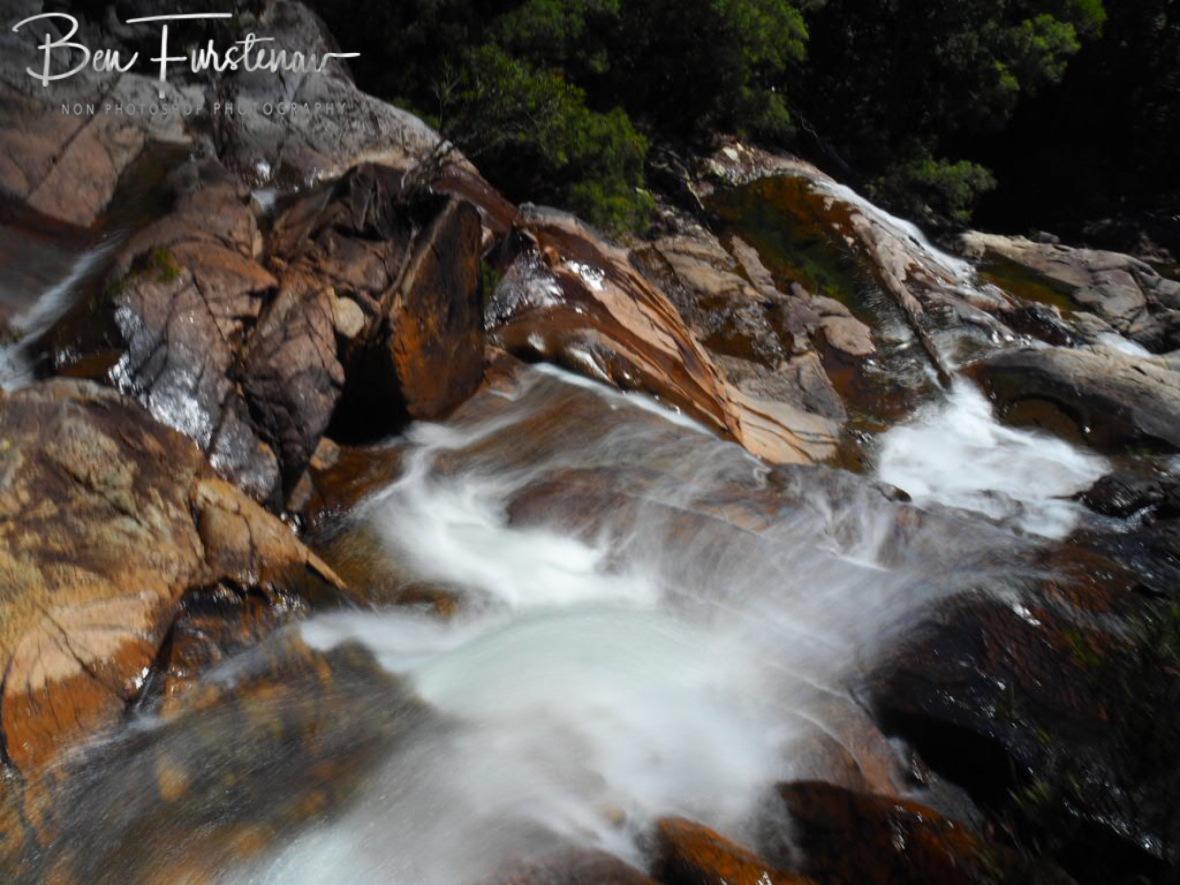 Marbleous cascades at Birthday Creek Falls, Northern Queensland, Australia
