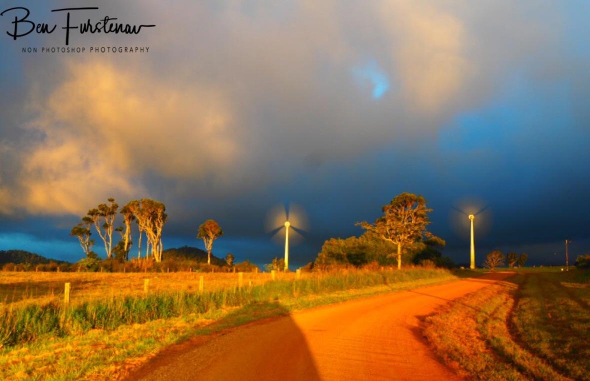 Windmill farm at Atherton Tablelands, Far North Queensland, Australia