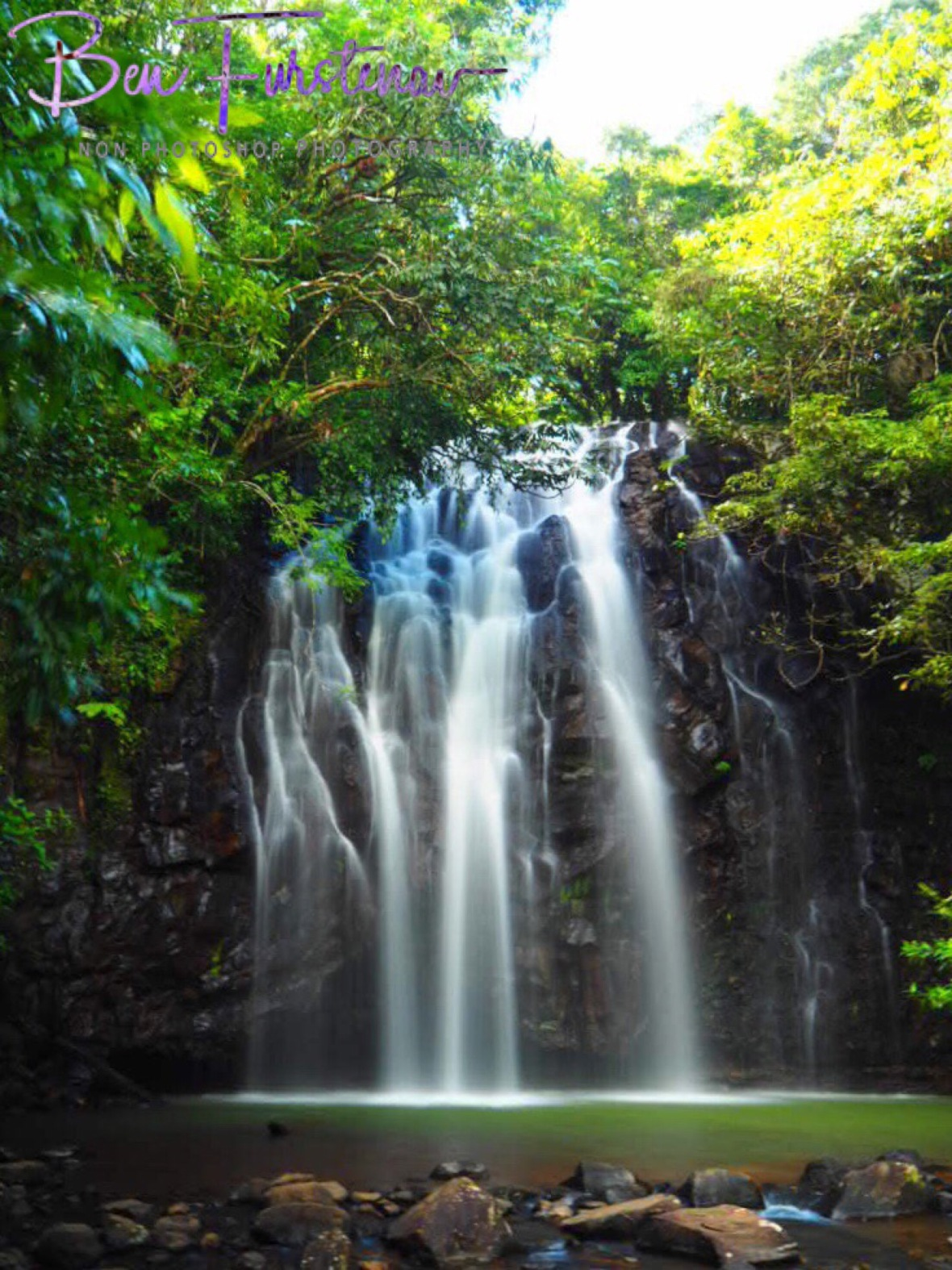 Spectacular drop-off to a shallow pool, Atherton Tablelands, Far North Queensland, Australia