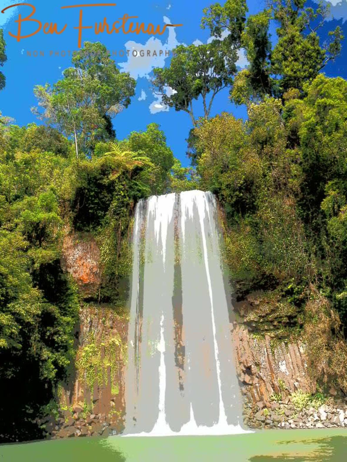 Millaa Millaa Falls in painting, Atherton Tablelands, Far North Queensland, Australia