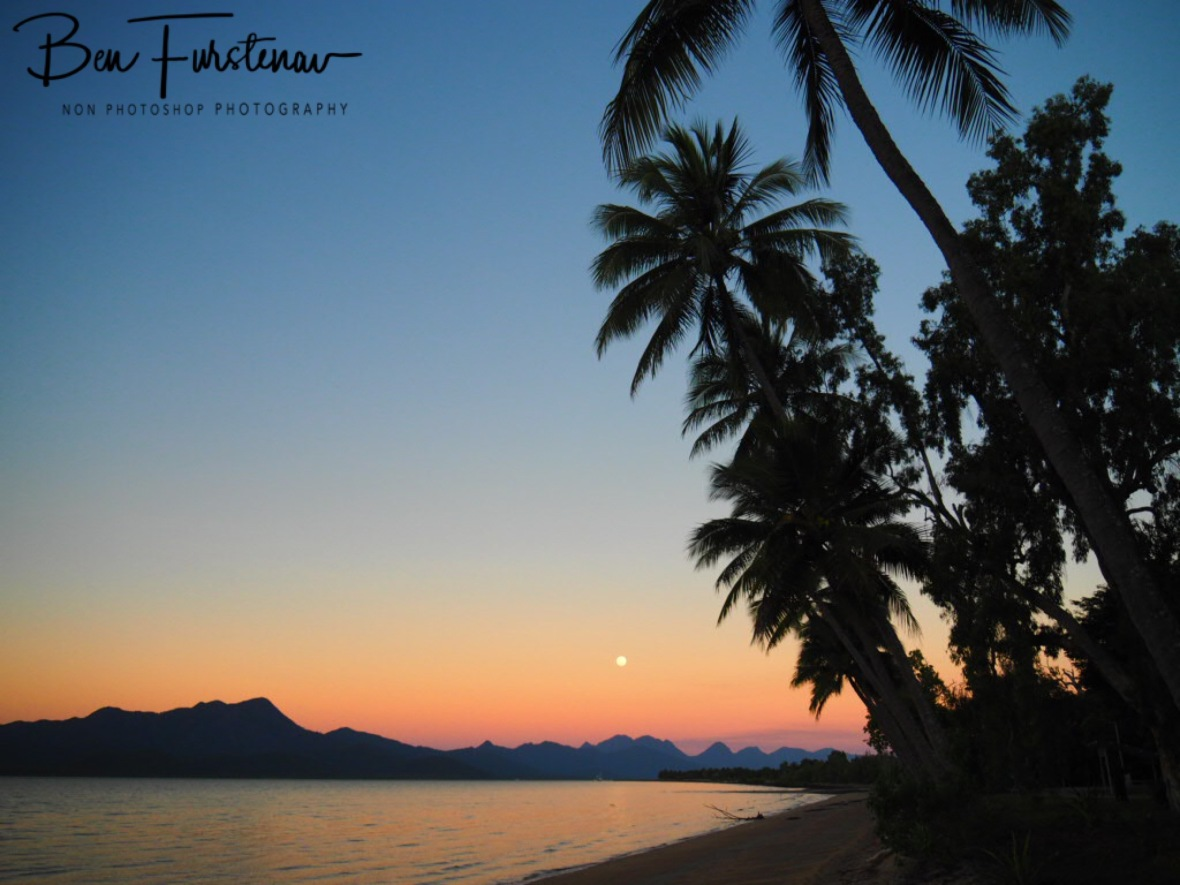 Stunning moonrise in Tropical Queensland, Australia , Cardwell