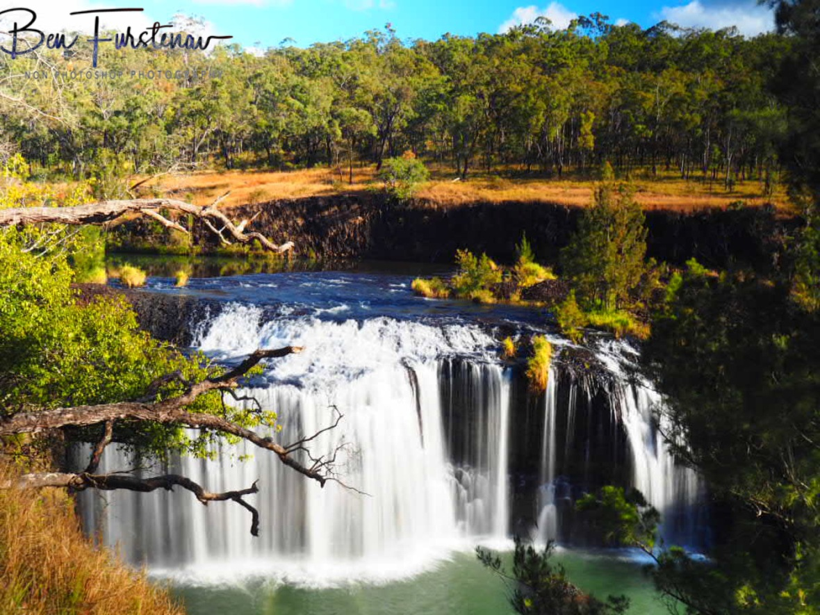 Millstream Falls on a sunny day at Atherton Tablelands, Far North Queensland, Australia