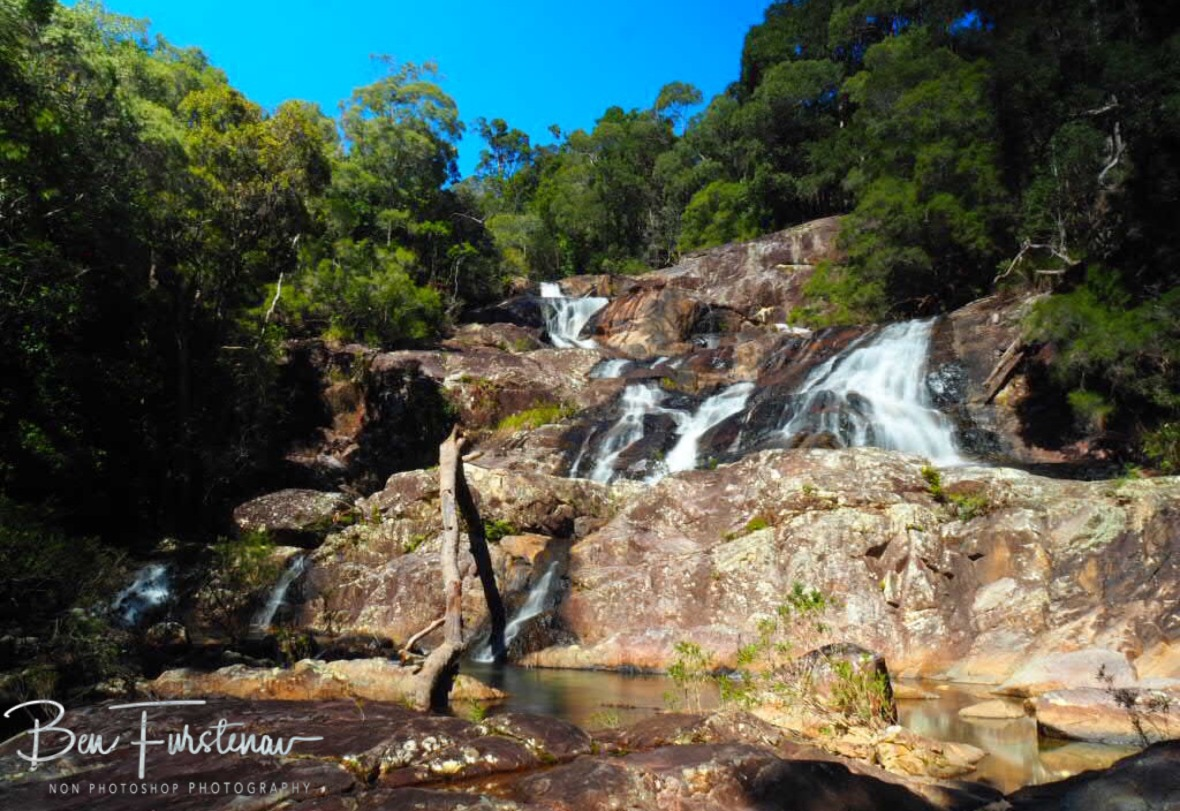 Cake layout at Birthday Creek Falls, Northern Queensland, Australia