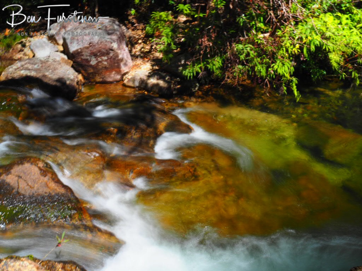 Noisy serenity at Birthday Creek Falls, Northern Queensland, Australia