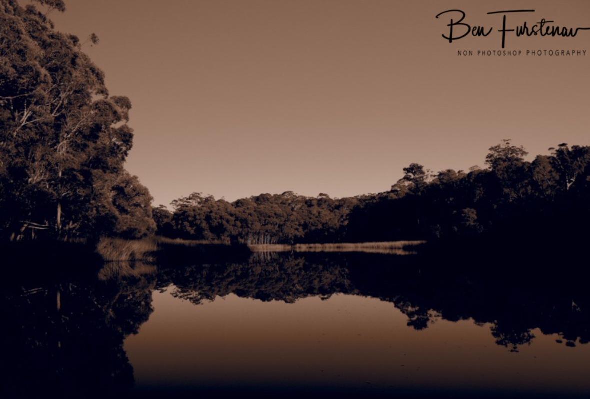 In tune in sepia at Lake Paluma, Northern Queensland, Australia