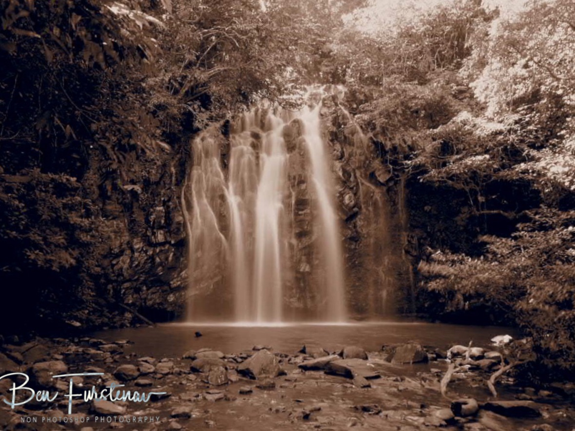 Ellinjla Falls in sepia, Atherton Tablelands, Far North Queensland, Australia