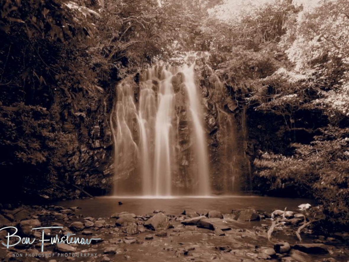 Ellinjla Falls in sepia, Atherton Tablelands, Far North Queensland, Australia