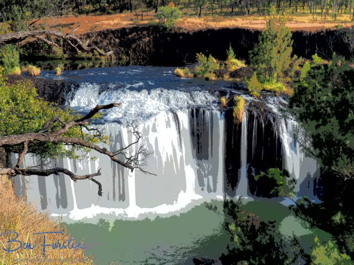 Big Millstream Falls in painting, Atherton Tablelands, Far North Queensland, Australia