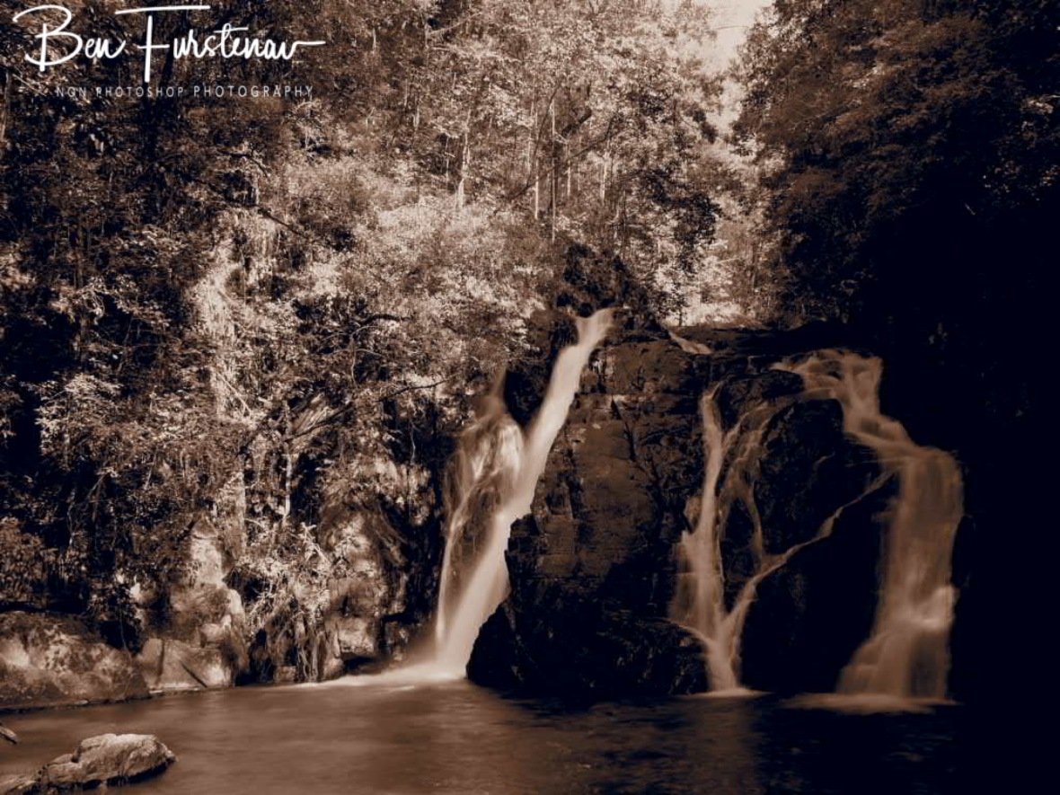Dinner Falls in sepia, Atherton Tablelands, Far North Queensland, Australia