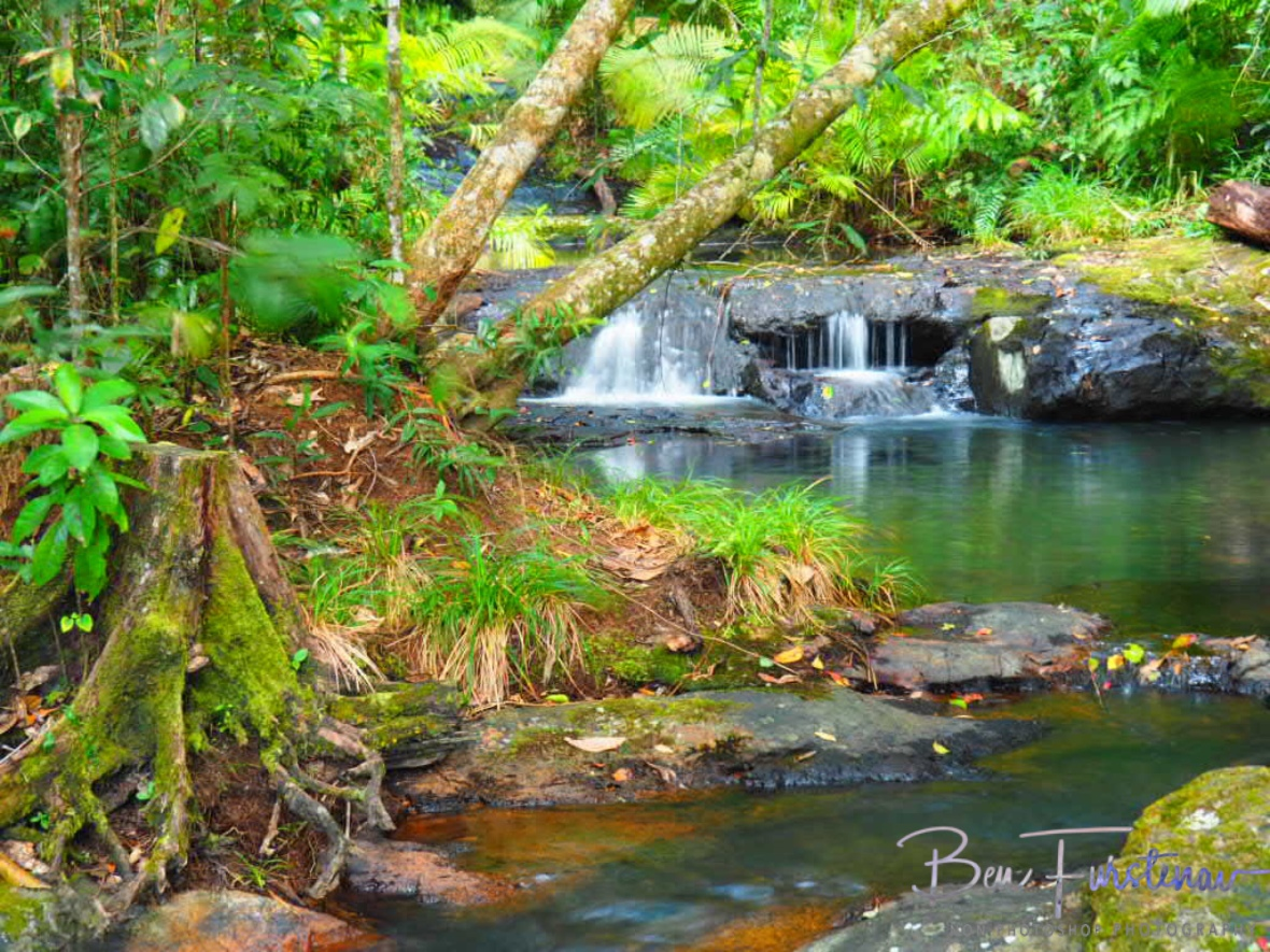 Gentle cascades at Atherton Tablelands, Far North Queensland, Australia